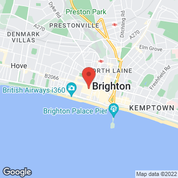 Map of Sunglass Hut at Unit 18A, Brighton, East Sussex BN12TB
