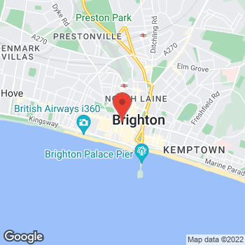 Map of STA Travel at 38/39 North Street, Brighton, East Sussex BN1 1RH