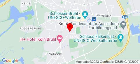 Google Map für BrühlZimmer.de