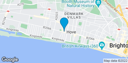Map of 139 Church Road in Hove
