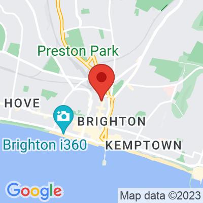 Map showing Bread & Milk Brighton