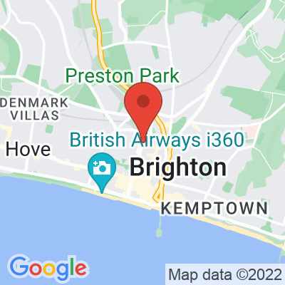 Map showing FCB Coffee (Brighton Railway Station)