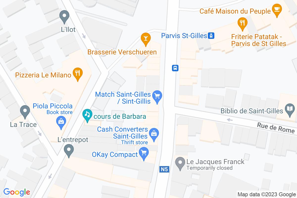 situation du Match Saint-Gilles / Sint-Gillis