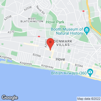 Map of Caring Lady Funeral Directors, Hove at 38 Blatchington Road,, Hove, East Sussex BN3 3YH