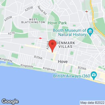 Map of The Co-operative Funeralcare Hove with Caring Lady at 38 Blatchington Road,, Hove, East Sussex BN3 3YH
