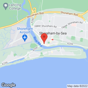 Map of Caring Lady Funeral Directors, Shoreham by Sea at 68 High Street, Shoreham-by-Sea, West Sussex BN43 5DB