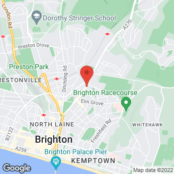 Map of The Co-operative Funeralcare with Caring Lady Brighton at 155 Lewes Road,, Brighton, East Sussex BN2 3LG