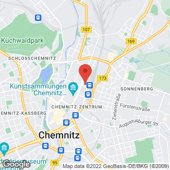 Map of Noleggio auto Chemnitz - InterRent at Mauerstr. 2, Chemnitz,  09111