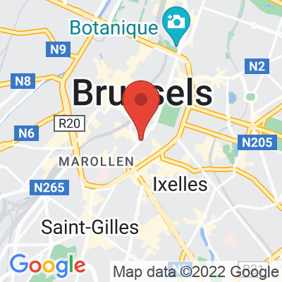 Map showing Café du Sablon