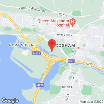 Map of Southern Co-op at 1000 Lakeside, Portsmouth, Hampshire PO6 3FE