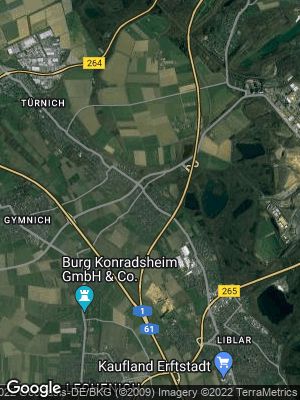 Google Map of Kierdorf bei Brühl