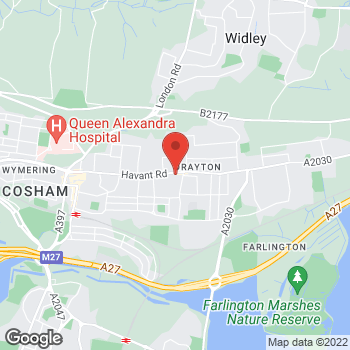 Map of The Co-operative Food Drayton, Havant Road at 192 Havant Rd, Portsmouth, Hampshire PO6 2EH