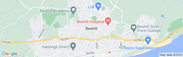 Map Of Bexhill-on-Sea