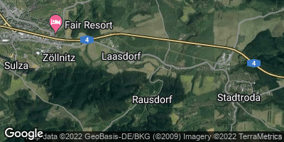 Google Map of Rausdorf bei Stadtroda