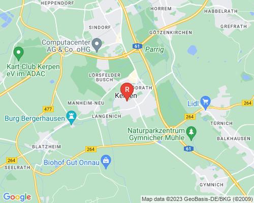 Google Karte von Rohrreinigung Kerpen