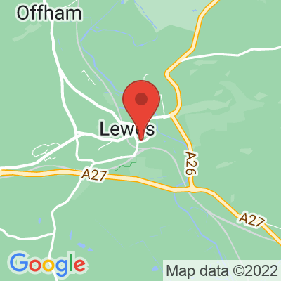 Map showing Ground Coffee House - Lewes
