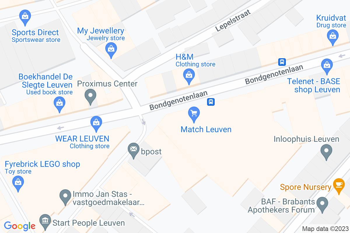 situation du Match Leuven