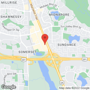 Map of Staples Print & Marketing Services at 140-350R Shawville Blvd. SE, Calgary, AB T2Y 3S4