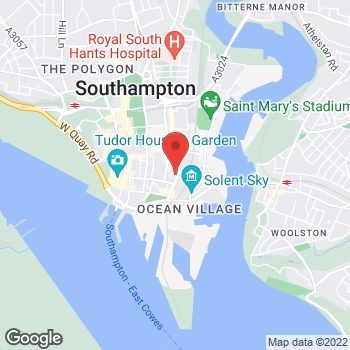 Map of Welcome Southampton, Liberty Quays at Liberty Quay, Southampton, Hants SO14 3ET