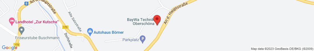 BayWa Technik Oberschöna Anfahrt