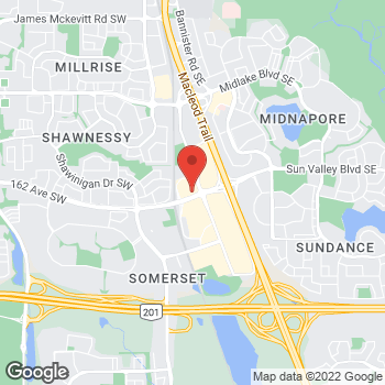 Map of Burger King at 85 Shawville Blvd Sw, Calgary, AB T2Y 3W5