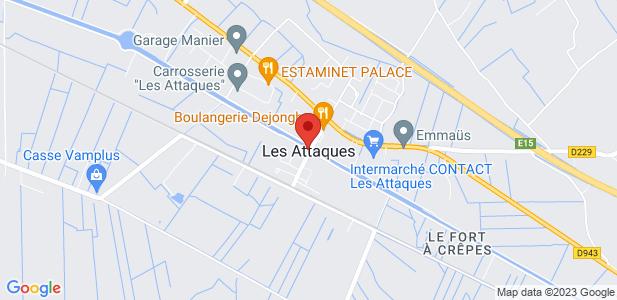 Entrepôt logistique de 1 200 m² à louer avec bureaux - ZI à Les Attaques (62)