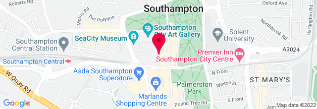 Map for Southampton Guildhall