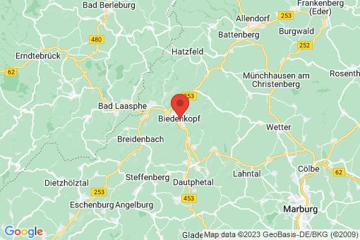 Karte Biedenkopf