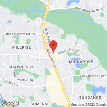 Map of Tim Hortons at 15425 Bannister Rd, Calgary, AB T2X 3E9