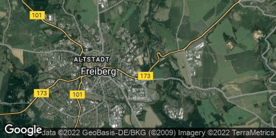 Google Map of Freiberg