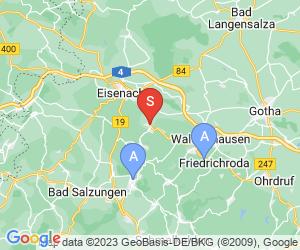 Karte für Tropfsteinhöhle Kittelsthal
