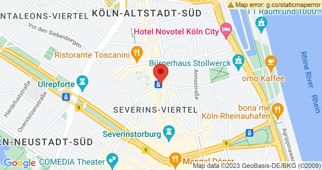 Google Map Laufsport Bunert Köln Süd