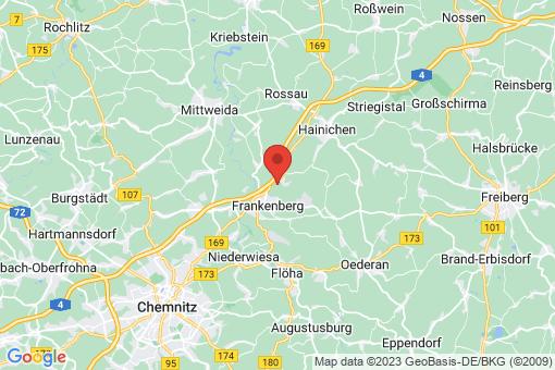 Karte Frankenberg/Sachsen
