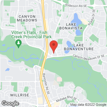 Map of Arby's at 380 Canyon Meadows Dr. SE, Calgary, AB T2J 7C3