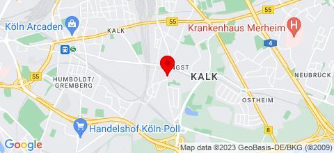 Google Map für NEUE PENSION mit 6 Zimmern in Köln-VINGST