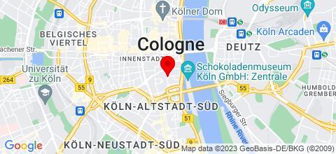 Google Map für Monteurzimmer Köln - über 100 Wohnungen in Köln und Umgebung
