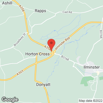Map of Burger King at Horton Cross, Illminster,  TA19 9PT