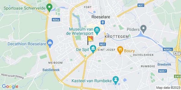 Google Map of 50.9408914, 3.1233457