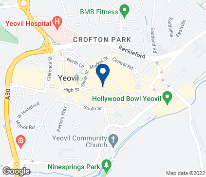 Map of 8 Frederick Place in Yeovil