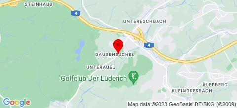 Google Map für Fuß-/ Messe, Sporthotel und Monteurunterkunft Untereschbach