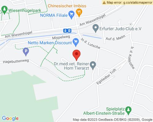Umgebungskarte für die Mietwohnung Sauerdornweg 15 in Erfurt Wiesenhügel