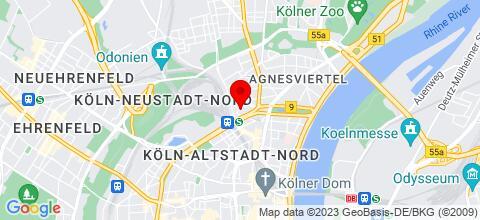 Google Map für Monteurzimmér in Köln und Umgebung