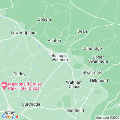 Bishops Waltham Palace Location