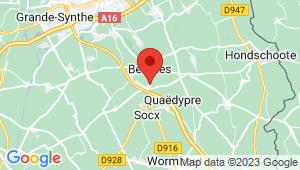 Carte de localisation du centre de contrôle technique QUAEDYPRE