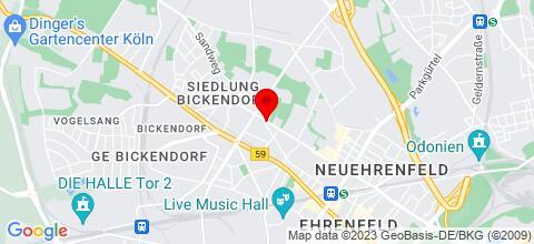 Google Map für Monteurzimmer Koeln