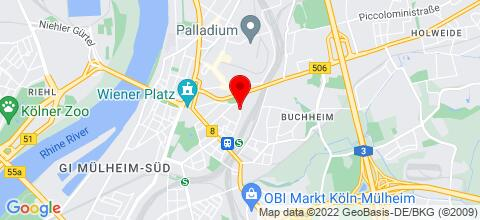 Google Map für TOP-möblierte Wohnung im EG