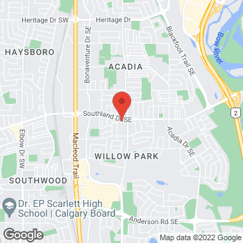 Map of Tim Hortons at 347 Southland Dr, Calgary, AB T2J 3L4