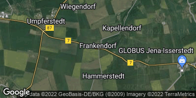 Google Map of Frankendorf bei Weimar