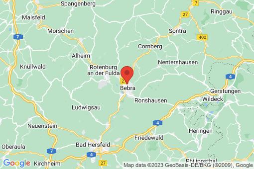 Karte Bebra