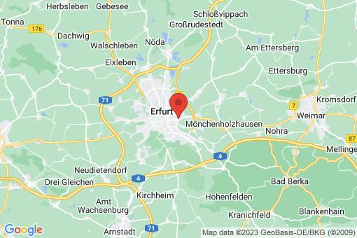 Karte Erfurt